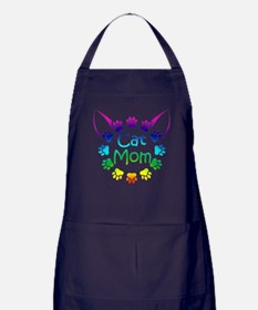 """Cat Mom"" Apron (dark)"