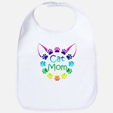 """Cat Mom"" Bib"