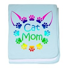 """Cat Mom"" baby blanket"