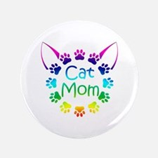"""""""Cat Mom"""" 3.5"""" Button (100 pack)"""