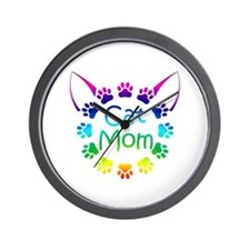 """Cat Mom"" Wall Clock"