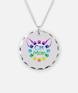 """Cat Mom"" Necklace"