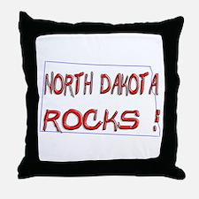 North Dakota Rocks ! Throw Pillow