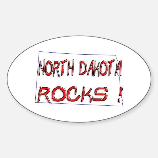North Dakota Rocks ! Oval Decal