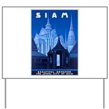 Siam Travel Poster 1 Yard Sign