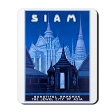 Siam Travel Poster 1 Mousepad