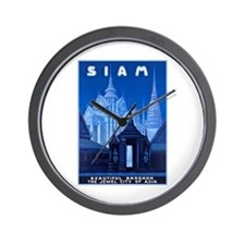 Siam Travel Poster 1 Wall Clock
