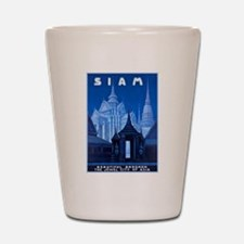 Siam Travel Poster 1 Shot Glass