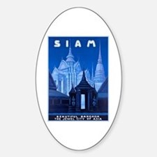 Siam Travel Poster 1 Decal