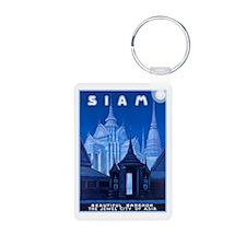 Siam Travel Poster 1 Keychains