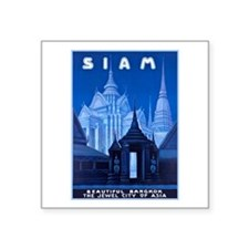 """Siam Travel Poster 1 Square Sticker 3"""" x 3"""""""