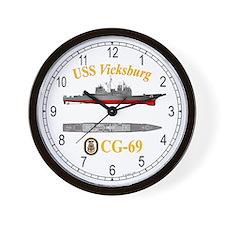 USS Vicksburg CG-69 Wall Clock