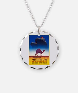 Palestine Travel Poster 2 Necklace