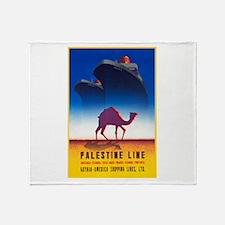 Palestine Travel Poster 2 Throw Blanket