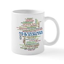 Teachers Hats Word Art Mug