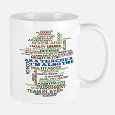 Teachers Hats Word Art Mug