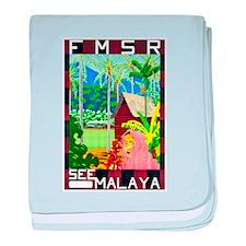 Malaya Travel Poster 1 baby blanket