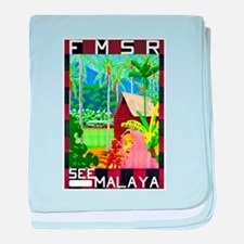 Malaya Travel Poster 1 baby blanket