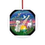 Magical Night - Bedlington T. Ornament (Round)