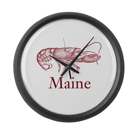 Maine Lobster Large Wall Clock