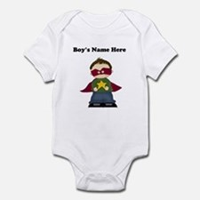 Personalized Super Hero Boy Baby Bodysuit
