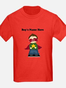 Personalized Super Hero Boy Kids T-Shirt (Dark)
