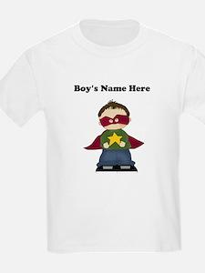 Personalized Super Hero Boy Kids T-Shirt