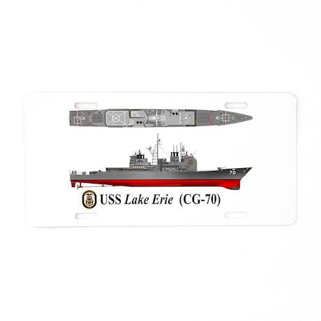 Lake Erie Auto Credit >> USS Lake Erie CG-70 Aluminum License Plate by delphic_com