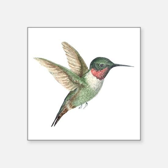"""Hummingbird Square Sticker 3"""" x 3"""""""