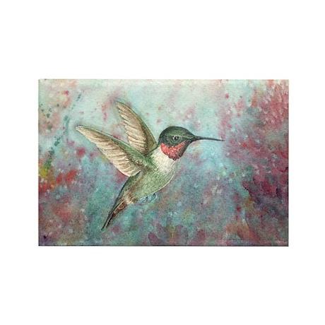 Hummingbird Rectangle Magnet