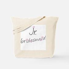 Pink Floral Jr. Bridesmaid Tote Bags