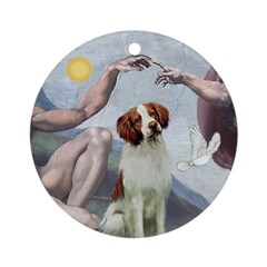 Creation - Brittany Spaniel Ornament (Round)
