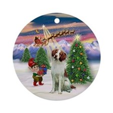 Take Off2 - Brittany Spaniel Ornament (Round)
