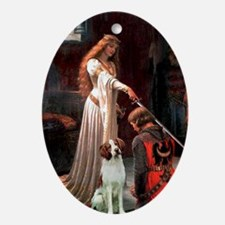 The Accolade - Brittany Spaniel Ornament (Oval)