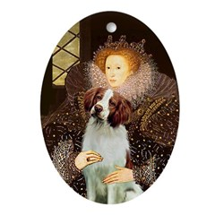 Queen Eliz. I - Brittany Spaniel Ornament (Oval)