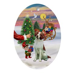 Treat for a Brittany Spaniel Ornament (Oval)