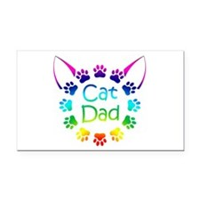 """Cat Dad"" Rectangle Car Magnet"