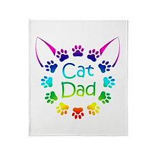 """""""Cat Dad"""" Throw Blanket"""