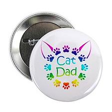 """Cat Dad"" 2.25"" Button"