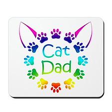 """Cat Dad"" Mousepad"