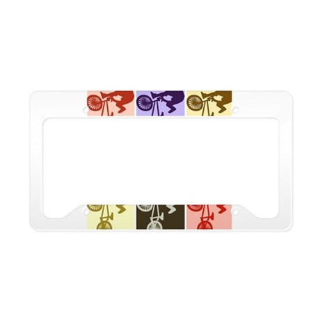 BMX Bike Rider/Pop Art License Plate Holder