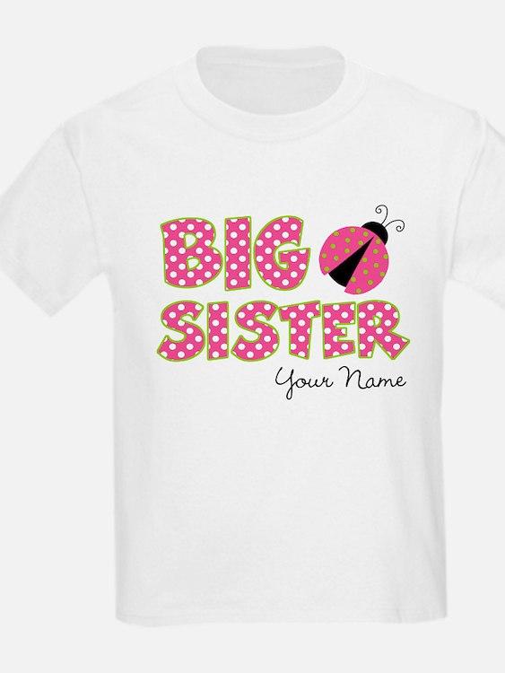 Big Sister Ladybug Pink T-Shirt