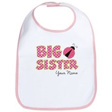 Big Sister Ladybug Pink Bib