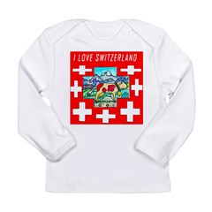 I love Switzerland Long Sleeve Infant T-Shirt