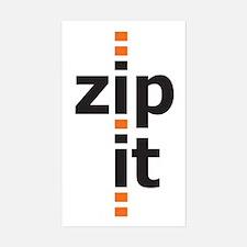 Zip It Rectangle Decal