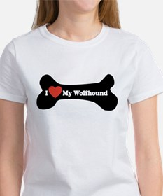 I Love My Wolfhound - Dog Bone Women's T-Shirt