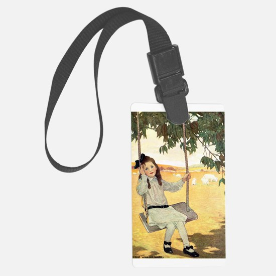 Girl on a Swing Luggage Tag