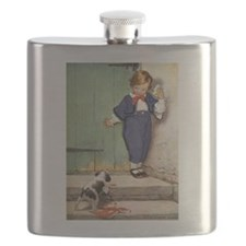 A Boy and His Puppy Flask