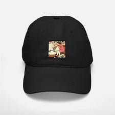 Little Girl Sewing Baseball Hat