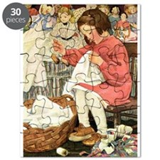 Little Girl Sewing Puzzle